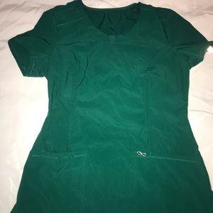 Hunter green Cherokee infinity scrub top& bottoms
